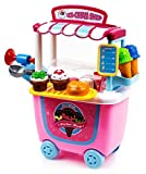 #3: Toys Bhoomi Fascinating Push Cart Trolley Ice Cream Parlor Shop - 31 Pieces