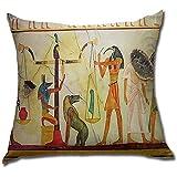 Tomba egizia Dipinto Morbido Cuscino Quadrato Federa Federa Cuscino Federa