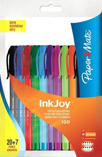 paper-mate-inkjoy-100-boligrafos-de-punta-de-bola-con-tapon-27-unidades-multicolor