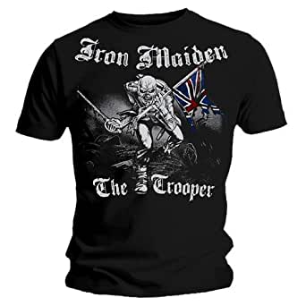 Official T Shirt IRON MAIDEN Watermark SKETCHED TROOPER Vintage Eddie S