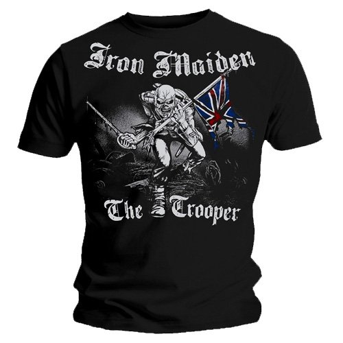 Image of Official T Shirt IRON MAIDEN Watermark SKETCHED TROOPER Vintage Eddie XL