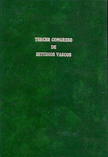 III Congreso de Estudios Vascos / Recopilaci—n de los trabajos de dicha asamblea... Guernica... 1922