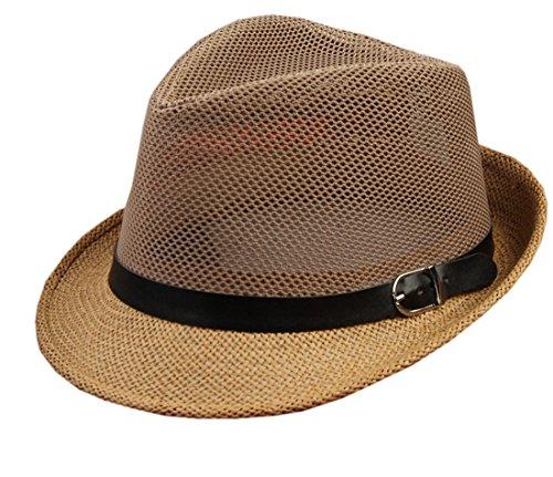 XueXian(TM) Unisexe Eté Chapeau Panama Hat en 35% Coton et 65% Polyester Café