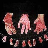 Halloween Horror Spukhaus Blut Messer String Faule Hand Fuß Anhänger Geist Festival Dekoration Ziehen Blume Requisiten Lustige Spielzeug