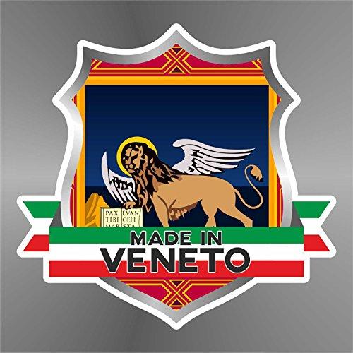 erreinge Sticker Veneto Venetien Véneto Italia Italy Italie Italien - Decal Cars Motorcycles Helmet Wall Camper Bike Adesivo Adhesive Autocollant Pegatina Aufkleber - cm 10