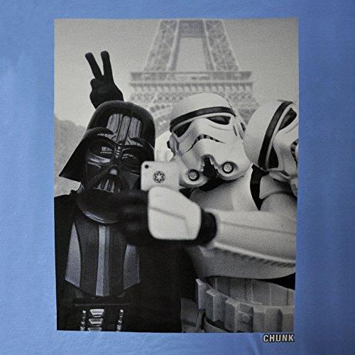 Star Wars Empire Selfie T-Shirt mit Darth Vader und Stormtrooper chunk Markenware weinrot Blau