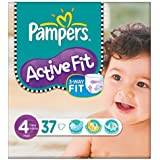 Pampers active Fit Taille 4 (7 à 18 kg) Pack Essentiel Maxi 6x37 par paquet