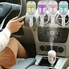 Qualimate Air Humidifier Car Plug Humidifier Air Purifier Freshener (Design & Color May Vary