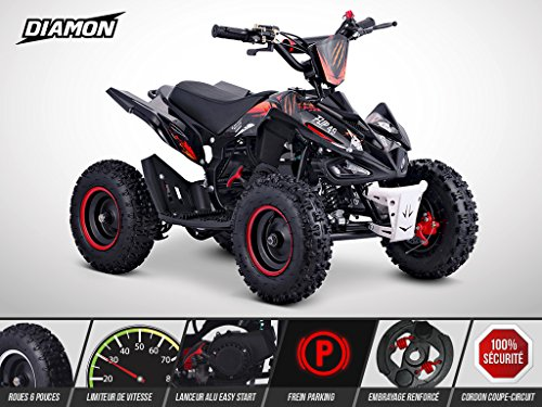 Pocket Quad Flip 49 - Mini Quad Enfant 50cc - DIAMON - Limited Edition 2020 - Rouge