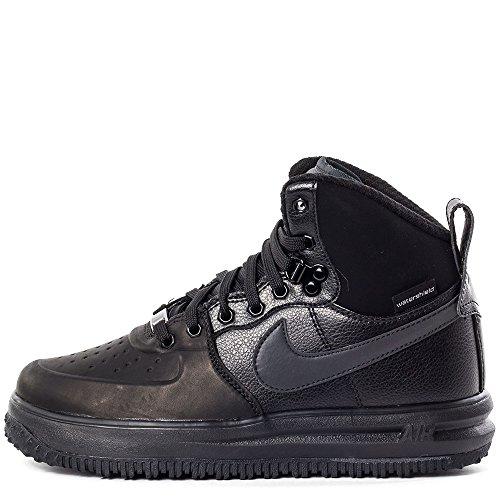 Nike Lunar Force 1 Sneakerboot Gs, Chaussures de Sport-Basketball Garçon Noir / Argenté (Black / Black-Metallic Silver)