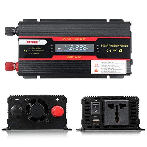 TuToy 4000W Peak Power Inverter Lcd Display Dc 12/24V To Ac 110V/220V Modified Sine Wave Converter - 24V-110V