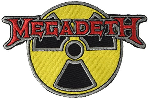 MEGADETH RADIOACTIVE, Officially Licensed, Iron-On / Sew-On, Embroidered PATCH Aufbügler (Patch Seltene)