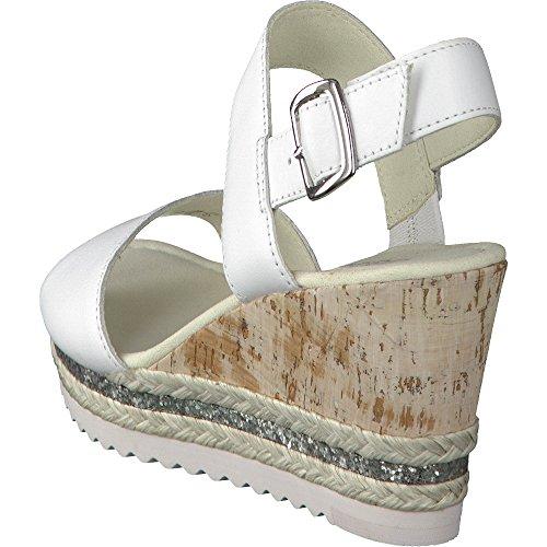 Gabor Damen Fashion Plateau Weiß