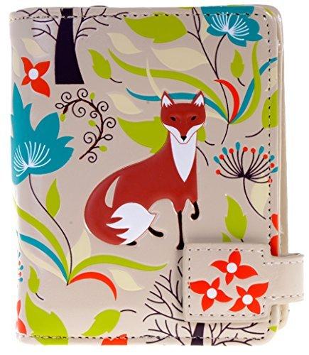 Shag Wear Damen Kleine Geldbörse mit Reißverschluss Tasche Forest Fox weiß - Fox Damen-geldbörse