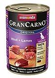 Animonda Gran Carno Hundefutter Senior Rind + Lamm, 6er Pack (6 x 400 g)