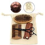 Best BLAIREAU huile de cheveux pour les hommes - Peigne Barbe Homme, Brosse à barbe de sanglier Review