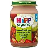 Hipp Petit-Déjeuner Bio Couche De Fraises Céréales Garni De Yogourt 7 + Mois 160G - Lot De 2