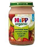 HippColazione Biologica A Livello Di Fragola Cereali Condita Con Yogurt 7+ Mesi 160G (Confezione da 2)