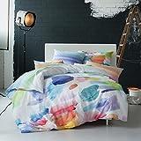 ESTELLA Mako-Satin Wendebettwäsche Splash Multicolor 1 Bettbezug 135x200 cm + 1 Kissenbezug 80x80 cm