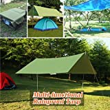 SLB Works Brand New 10x10ft Rain Tarp Shelter Sun Sunshade Awning Canopy Beach