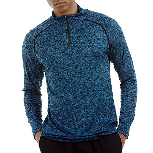 Celucke Sport Funktionsshirt Herren Langarm Kompressionsshirt, Unterhemden Männer Laufshirt Kompression Compression Shirt