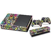 GameXcel ® Diseñador adhesivo protector para Xbox Uno stystem Consola con dos Free Wireless Controller etique Doodle