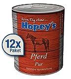 Hopey's Hypoallergenes Hundefutter: Pferdefleisch als Einzige Proteinquelle, 100% Pferdefleisch für Hunde, 12x 850g Dosen