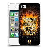 Head Case Designs Train Hard Fitness Motivation Ruckseite Hülle für iPhone 4 / iPhone 4S
