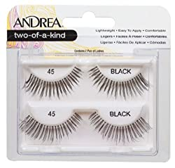 Andrea Twin Pack Lashes Black Two Of A Kind 45