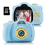 Fede Kinder Kamera mit 32GB TF-Karte, wiederaufladbare Selfie Kamera für Kinder, Kinder Digital-Camcorder mit 2,0...