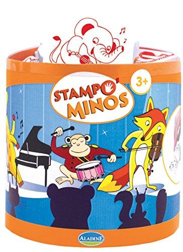 ALADINE 85140 - Stampo Minos Tierband, 11 Stempel, 1 Stempelkissen (Kleidung Mina)