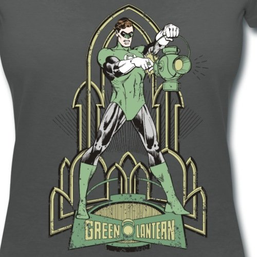 DC Comics Originals Green Lantern Look Usé T-shirt col V Femme de Spreadshirt®‎ Charbon