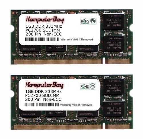 Komputerbay Arbeitsspeicher, 2 GB (2 x 1 GB 200 Pin, 333MHz, PC 2700 DDR, SODIMM Arbeitsspeicher - 1g 1gb 333mhz Ddr Pc