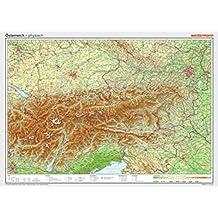 Posterkarten Geographie: Österreich: physisch