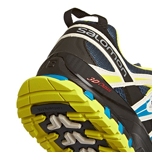 Salomon  Xa Pro 3D, Baskets pour homme rouge * - Grau-Neongelb-Blau