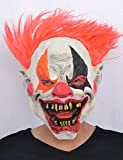 Máscara látex payaso infierno adulto Halloween