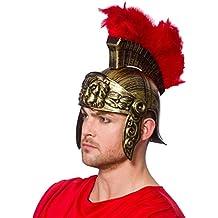Wicked Casco romano para adultos, con plumas