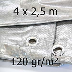 Abdeckplane rechteckig 120gr/m² 4 x 2,5 m 57231-1