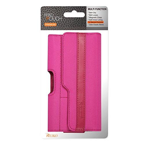 Reiko Horizontal Rugged Tasche für iPhone 6/6S-Retail Verpackung-Hot Pink - Hot Pink Horizontal Pouch