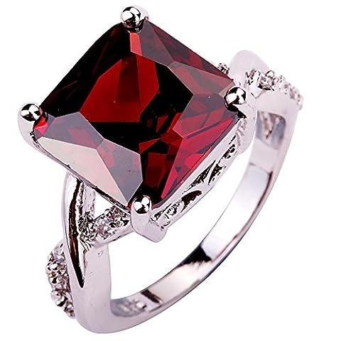 YAZILIND CZ Ring Stone Wedding Band Stainless Steel Bridal Rhinestone Jewelry For Women Size8