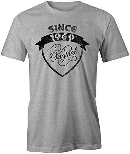 Original Since 1969 - Rundhals-T-Shirt Männer-Herren - hochwertig bedruckt mit lustigem Spruch - Die perfekte Geschenk-Idee (05) grau-meliert