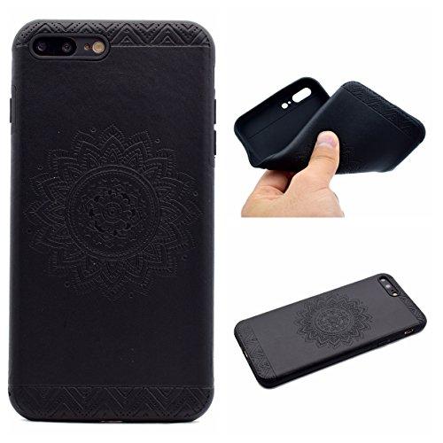 Apple iPhone 7 Plus 5.5 Hülle, Voguecase Schutzhülle / Case / Cover / Hülle / TPU Gel Skin (Datura Blumen/Rosa) + Gratis Universal Eingabestift Datura Blumen/Schwarz