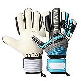 Torwarthandschuhe Nitro NC Neo mit flexiblem Fingerschutz von T1TAN | Torwart Handschuhe in Profi-Qualität mit Innennaht Schnitt, elastischer 2-fach Bandage und 4mm Gecko Grip - Gr. 8 Farbe: sky blue