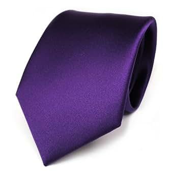TigerTie Designer satin cravate en lila violet foncé violet unicolor Polyester