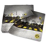 BVB Weihnachtsserviette / Servietten (20er-Set) one size Borussia Dortmund - plus gratis Aufkleber forever Dortmund