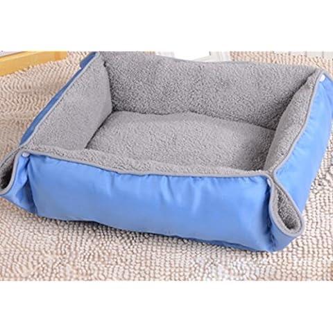 Perreras impermeables gruesas estupenda, super suaves nidifican cojín doble uso canal cat y colchonetas para mascotas perro gato , blue ,