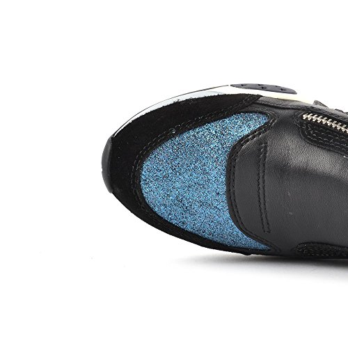 Ash Hop Sneaker, Donna Nero/Blu