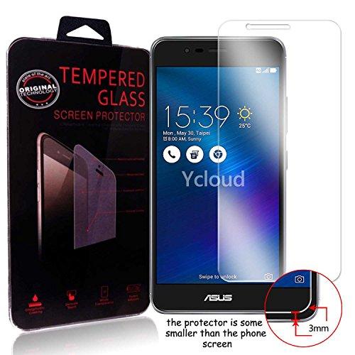 Ycloud Panzerglas Folie Schutzfolie Bildschirmschutzfolie für Asus ZenFone 3 Max (5.2 Zoll) ZC520TL screen protector mit Härtegrad 9H, 0,26mm Ultra-Dünn, Abger&ete Kanten