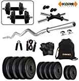 #8: Kore K-PVC 20kg Combo 3  Leather Home Gym and Fitness Kit