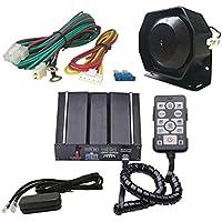 ASS como con Cable Sirena Kit 12V electrónico con Principal Sirena Caja Altavoz Sistema de PA a Distancia con Cable Auxiliar luz Terminal Fit para Policía Ambulancia Fire Ingeniero vehículos